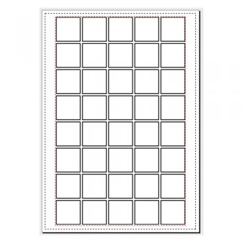 Quantidade de tags de 3cm x 3cm